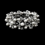 Silver and white pearl Barcelet – STB-969