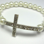 CROSS BRACELET – PRINCESS White (STB-001)